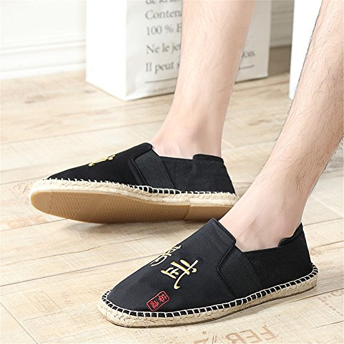 New Spring Size Moccasins Color Low Hemp Shoes 40 Loafers 2018 Shoes E Fashion Bottom Mens Canvas Breathable Top Fqwxcp4d