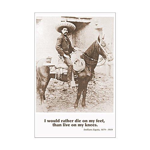 Mexican Revolution Poster (CafePress - Emiliano Zapata Quote on Horseback Poster Print - Mini Poster Print)