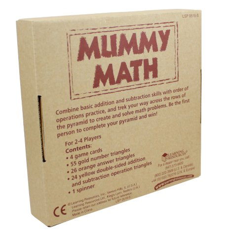 Amazon.com: Learning Resources Mummy Math - Addition/Subtraction ...