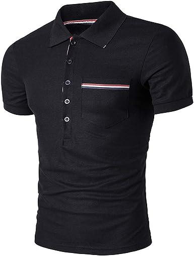 Mr.BaoLong&Miss.GO Camisetas Casuales para Hombre Camisetas ...