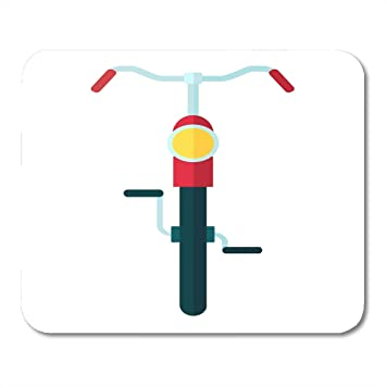 Mouse Pads Bike Bycicle Bicycle Front View Flat Cartoon ...