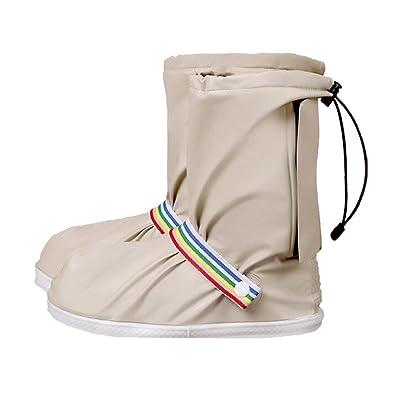 Yuntown Unisex Waterproof Rain Shoe Covers with Thick Anti-Slip Sole