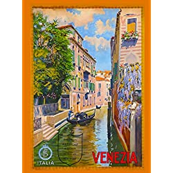 Venezia Venice Italy Vintage European Travel Advertisement Collectible Wall Decor Poster Picture Print. Poster measures 10 x 13.5 inches