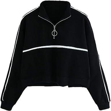 Maglione Donna Tumblr S-XXL Felpe Donna Tumblr Lunghe Larghe Felpe Ragazza Elegante Sportivi Pullover Sweatshirt Abbigliamento Costume Vestito Tuta Regalo//Multicolore