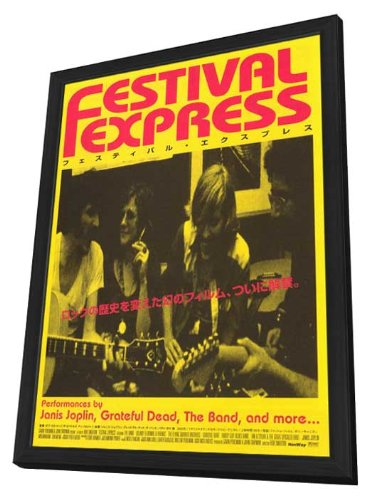 Festival Express 11 x 17 Movie Poster - Japanese Style A - in Deluxe Wood Frame