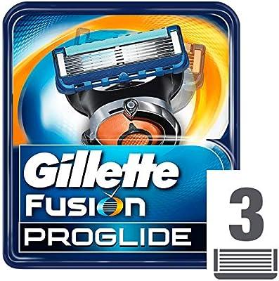 Gillette Fusion ProGlide - Pack de 3 recambios de maquinilla de ...