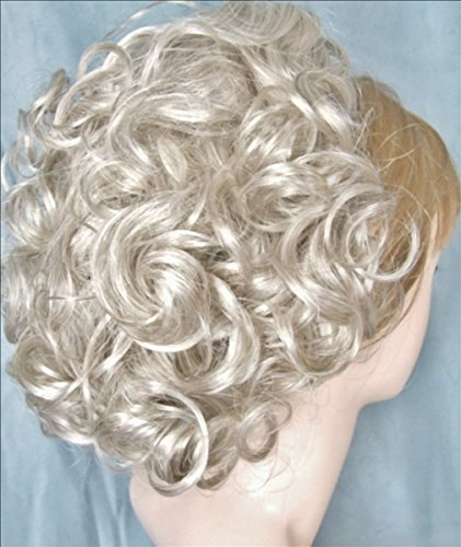 DAWN Clip On Hairpiece by Mona Lisa - 59 Gray with 5% Black