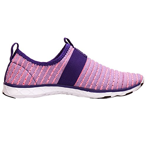 ALEADER Frauen Mesh Slip On Water Schuhe Lila 9976