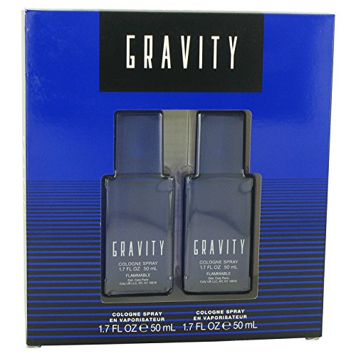 Coty Gravity 2 Piece Gift Set for Men (Cologne 2 Piece Set)