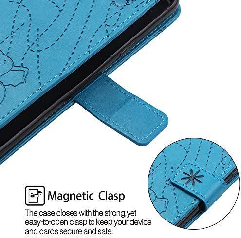 Tosim Galaxy A5 2017 Hülle Klappbar Leder, Brieftasche Handyhülle Klapphülle mit Kartenhalter Stossfest Lederhülle für Samsung Galaxy A5 2017/A520F - TOYBO470081 Violett