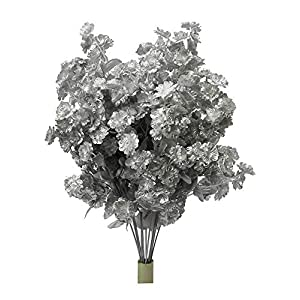 Artificial Full Blooming Baby Breath Flowers for Home, Wedding, Restaurant & Office Decoration Arrangement, Metallic Silver 92