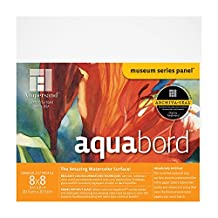Ampersand Aquabord, for Watercolors, Gouache and Acrylics, 1.5 Inch Cradle 8X8