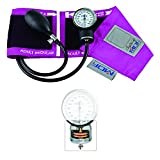 MDF® Calibra® Pro Aneroid Sphygmomanometer - Professional Blood Pressure Monitor with Adult Sized Cuff Included - Full Lifetime Warranty & Free-Parts-For-Life - Fuscia (MDF808B-32)