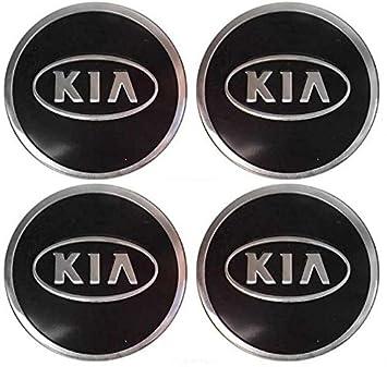 autopartsml - 4 emblema adhesivo de aluminio de Kia para tapacubos de 56 mm: Amazon.es: Coche y moto