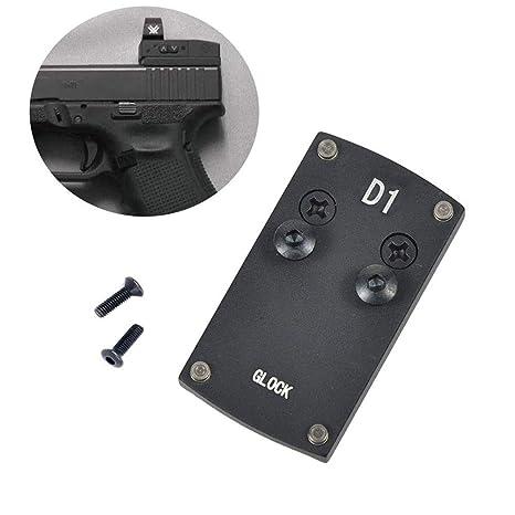 Glock Sight Mount Plate - Glock 17 19 22 23 26 27 34 35 37 41 Mounting  Plate for Mini Red Dot Sight, Pistol Handgun Glock Mount Plate Base for Red  dot