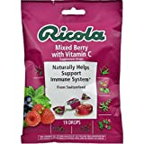 Ricola Supplement Drops With Vitamin C, Mixed Berry 19 ea ( Pack of 48)