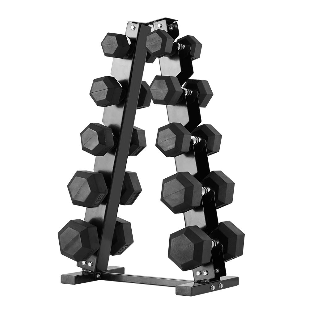 PAPABABE A Frame Upgrade Dumbbell Rack Weight Rack Stand Dumbbell Weight Storage for Home Gym Upgrade 5-Tier Rack