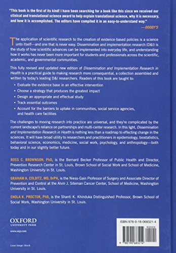 Dissemination and Implementation Research in Health: Translating Science to Practice - http://medicalbooks.filipinodoctors.org