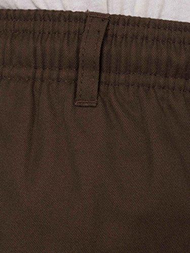 Carabou Hombres Inteligentes Pantalones De Rugby Con Cintura Elástica con Draw Cord tamaños: cintura 81,3 cm - 152,4 cm X-corto-Regular Café