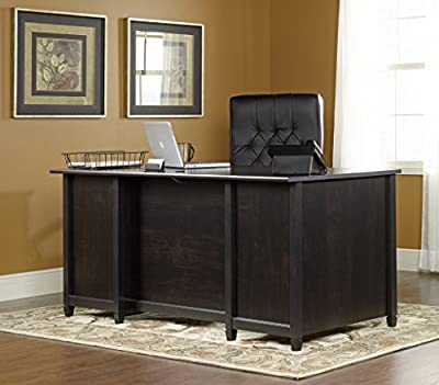 Sauder Edge Water Executive Desk, Estate Black Finish