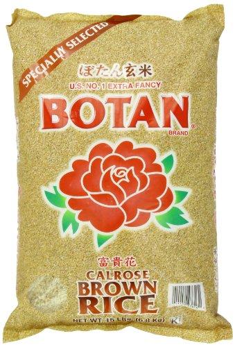 BOTAN Calrose Brown Rice, (Brown Rice 15 Lb Bag)