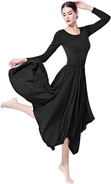 IWEMEK Women Liturgical Praise Lyrical Dance Dress Church Ballet Worship Costume