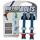 """Big Foot Toilet Bolts - No Spin Toilet Flange Bolts - 5/16"""" Threading X 2.5"""" Length"""