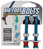 Big Foot Toilet Bolts - No Spin Toilet Flange Bolts - 5/16'' Threading X 2.5'' Length