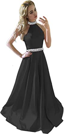 YANG-YI Hot Women Formal Wedding Bridesmaid Long Ball Prom Gown Patchwork Cocktail Dress