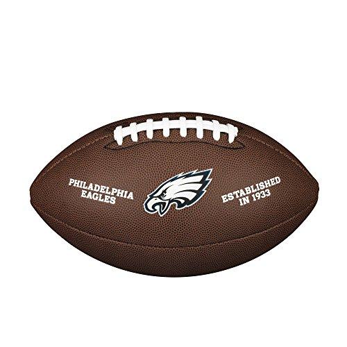 NFL Team Logo Composite Football, Official - Philadelphia Eagles (Wilson Nfl Game Logo Football)
