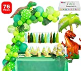Dinosaur Party Supplies Little Dino Party Decorations Set forBoyJurassic World Park T Rex BirthdayBalloons Arch Garland Kit Blow Up Dinosaurs Balloon