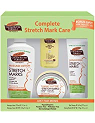 Complete Stretch Mark Care Kit for Expectant Moms from Palmer's Cocoa Butter Formula | for Stretch Marks & Pregnancy Skin Care | Dermatologist Approved & Suitable for Sensitive Skin | 4 pc Gift Set