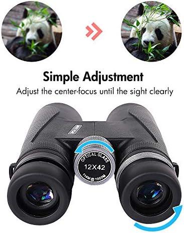 12×42 Compact Binoculars Binocular
