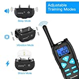 Nemobub Dog Shock Collar 1000ft Remote Training and 100% Waterproof Rechargeable Shock Collar with Beep Vibration and Electric Dog Collar for All Size Dogs