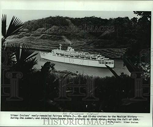 Vintage Photos 1986 Press Photo Luxury Liner Fairsea of Sitmar Cruise line in Panama Canal (Best Cruise Line For Panama Canal)