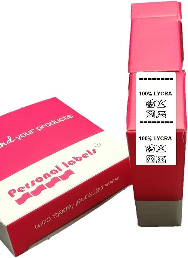100 Etiquetas para coser composición y lavado 100% LYCRA: Amazon ...