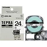 キングジム テープカートリッジ テプラPRO マットラベル 24mm 白 SB24S