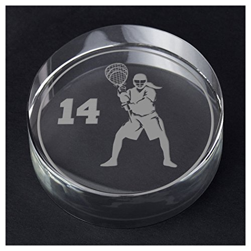 ChalkTalkSPORTS Girls Lacrosse Personalized Crystal Award Gift | Goalie Silhouette Custom Number by ChalkTalkSPORTS
