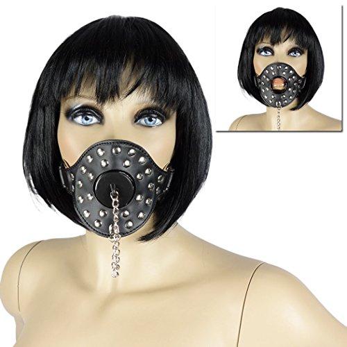 BDSM Mund-Knebel #7137 Röhren Mundknebel mit Abfluss-Stöpsel