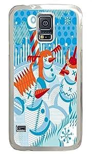 Samsung S5 case wholesale Abstract Vector Snowmen PC Transparent Custom Samsung Galaxy S5 Case Cover