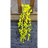 Best Artificial (TM) 80cm Trailing Flower Garland Hanging Vine String Plant (Yellow) by Best Artificial