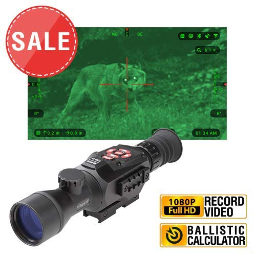 TheOpticGuru ATN X-Sight-II Smart Day/Night Hunting Rifle Scope with Full HD Video rec, WiFi, GPS, Smooth Zoom and Smartphone Controlling Thru iOS or Android Apps (3-14x)