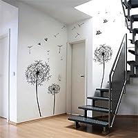 1 X Flores de diente de león Árbol Mariposas Vinilos removibles Adhesivos de pared Mural Inicio Calcomanía Decoración de habitaciones para niños (AWQE)