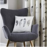 Allure - Charcoal, Grey, Cream - Cushion Covers - 17 x 17 ( 43 cm x 43 cm) Approximately. Perfectly fits 18 x 18 Inserts - Sold as a Pair (2) by Perfecthome Textiles