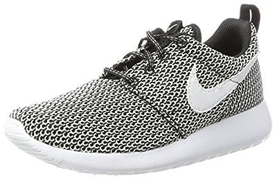 Boys' Nike Roshe One (GS) Shoe BLACK/WHITE, Size 4
