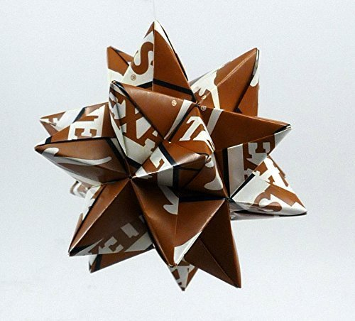 Medium Origami Star made From Texas Longhorns Paper, Longhorns Star, University of Texas decoration ()