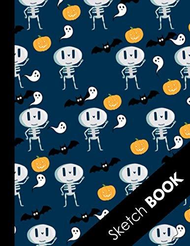 Pumpkin Drawings For Halloween (Sketch Book: Halloween Gifts for School Kids: Funny Halloween Pattern Zombie Mummy Skeleton Bats Pumpkin: Practice Drawing, Doodle, Paint, Write: Large Sketchbook And Creative)