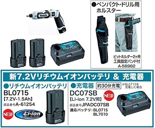マキタ 充電式 ペンインパクトドライバTD022DSHXW(ホワイト)+スマートホルスター付 B01N5G3C0C