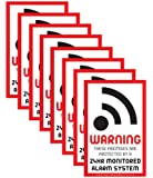 8 x Intruder Alarm Warning Security Stickers Signs for Internal or External use