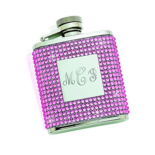 Flask with Pink Crystals and Eng. Plate